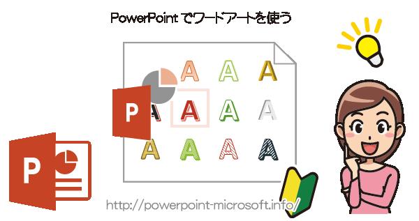 PowerPointでワードアートの文字装飾を利用