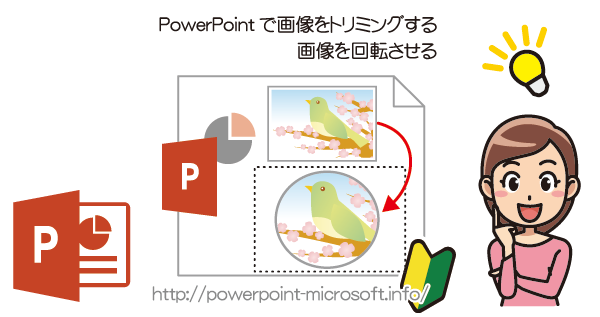 PowerPointで画像をトリミング