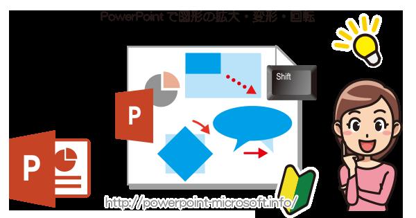 PowerPointで図形の大きさや形状を変更/回転