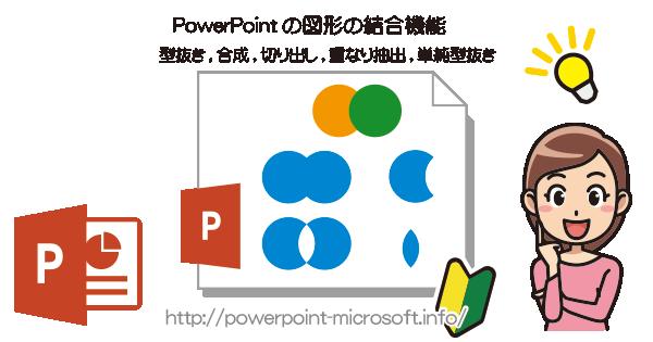 Powerpoimtの図形の結合機能を使う