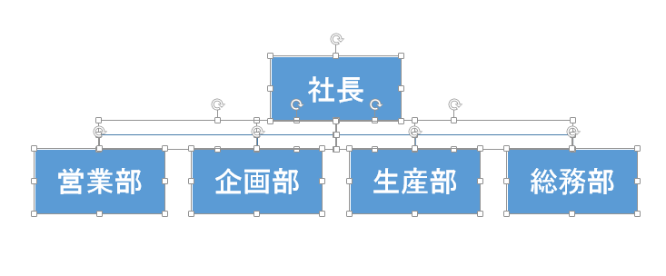 図形に変換されたSmartArtのグループ化解除
